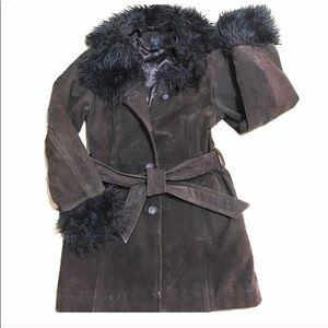 Burningman Leather and Faux Fur Festival Jacket